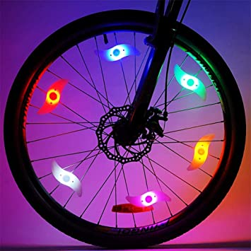 Luz De Rueda De Bici Luces De Radios De Bicicleta Led Cambian De ...