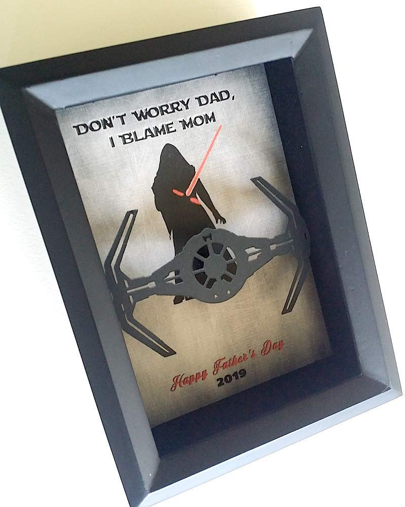 Funny Gifts For Mom Or Dad Peronslized Kylo Ren Inspired Floating Tie Fighter Shadowbox
