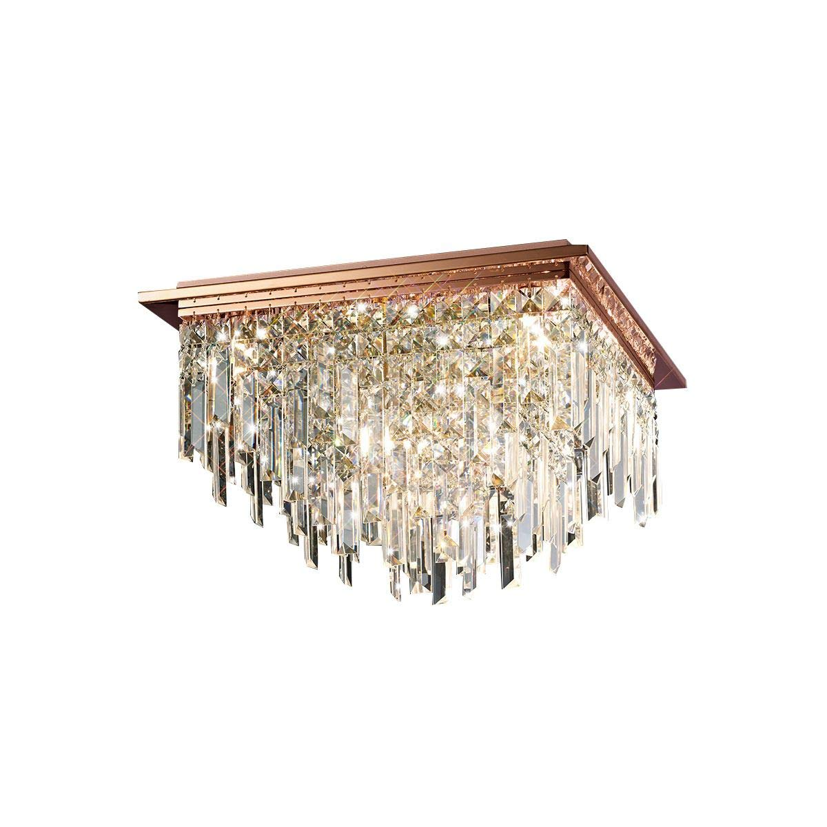 Diyas il31712 maddison ceiling square 6 light g9 rose gold crystal amazon co uk lighting