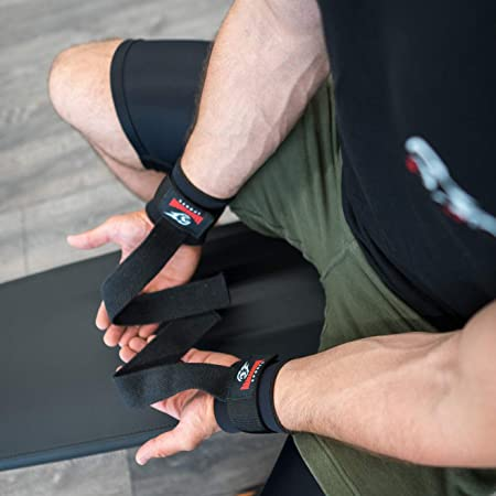 ARMAGEDDON SPORTS Wrist Straps for Weight Lifting with Premium Padded Wrist Wraps Support, Perfect for Deadlifting, Pull Up, Bar Workout, Gym, ...