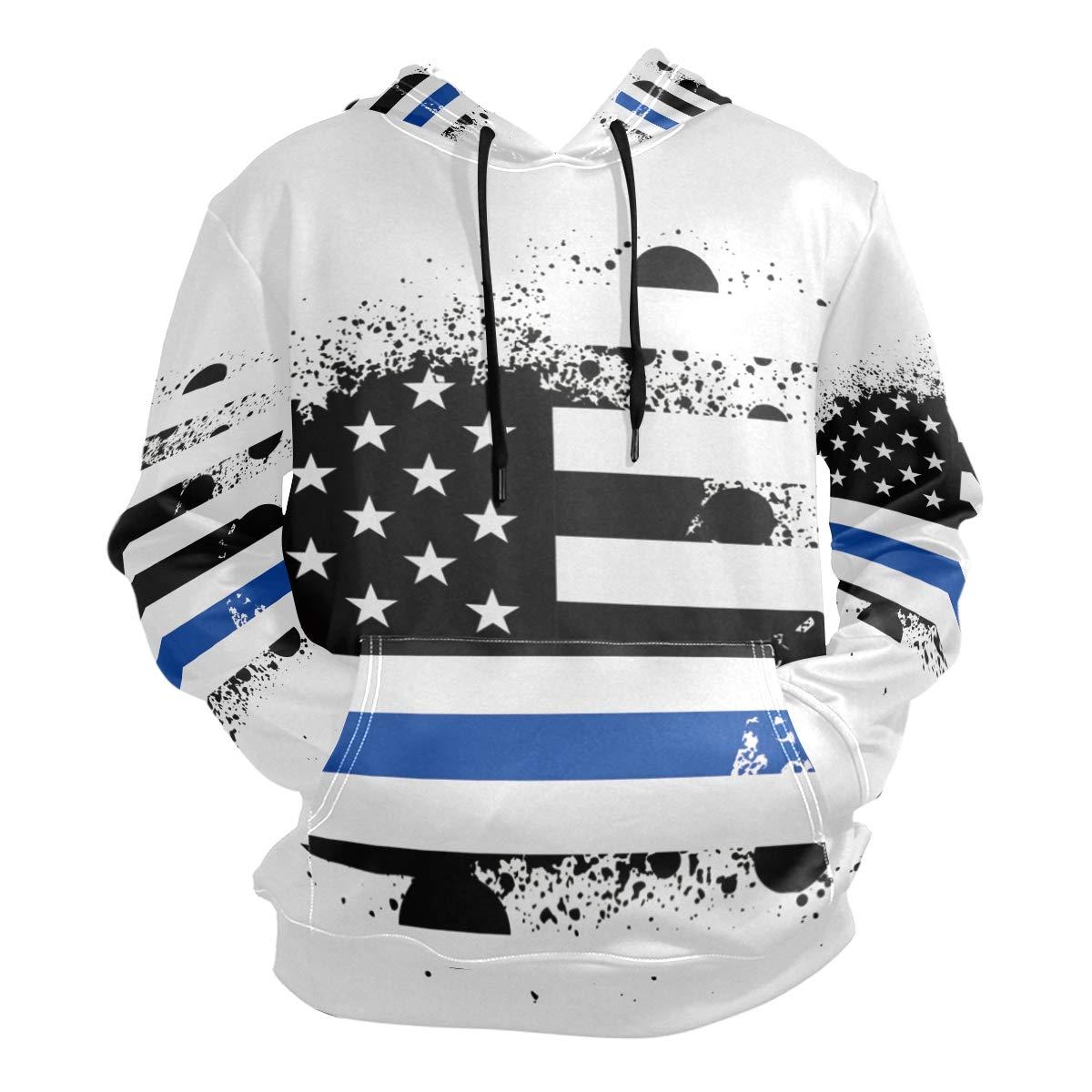 DERLONKAJE Mens Viking Symbol Nordic Compass Hooded Hoodie Casual Pullover Sweatshirt