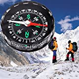 1 Pc Mini Precise Compass Keychain Practical Guider North Navigation Survival Emergency Life Military Great Popular Outdoor Hunting Waterproof Protractor Whistle Backpack Geometry Map Guide Tools Kits