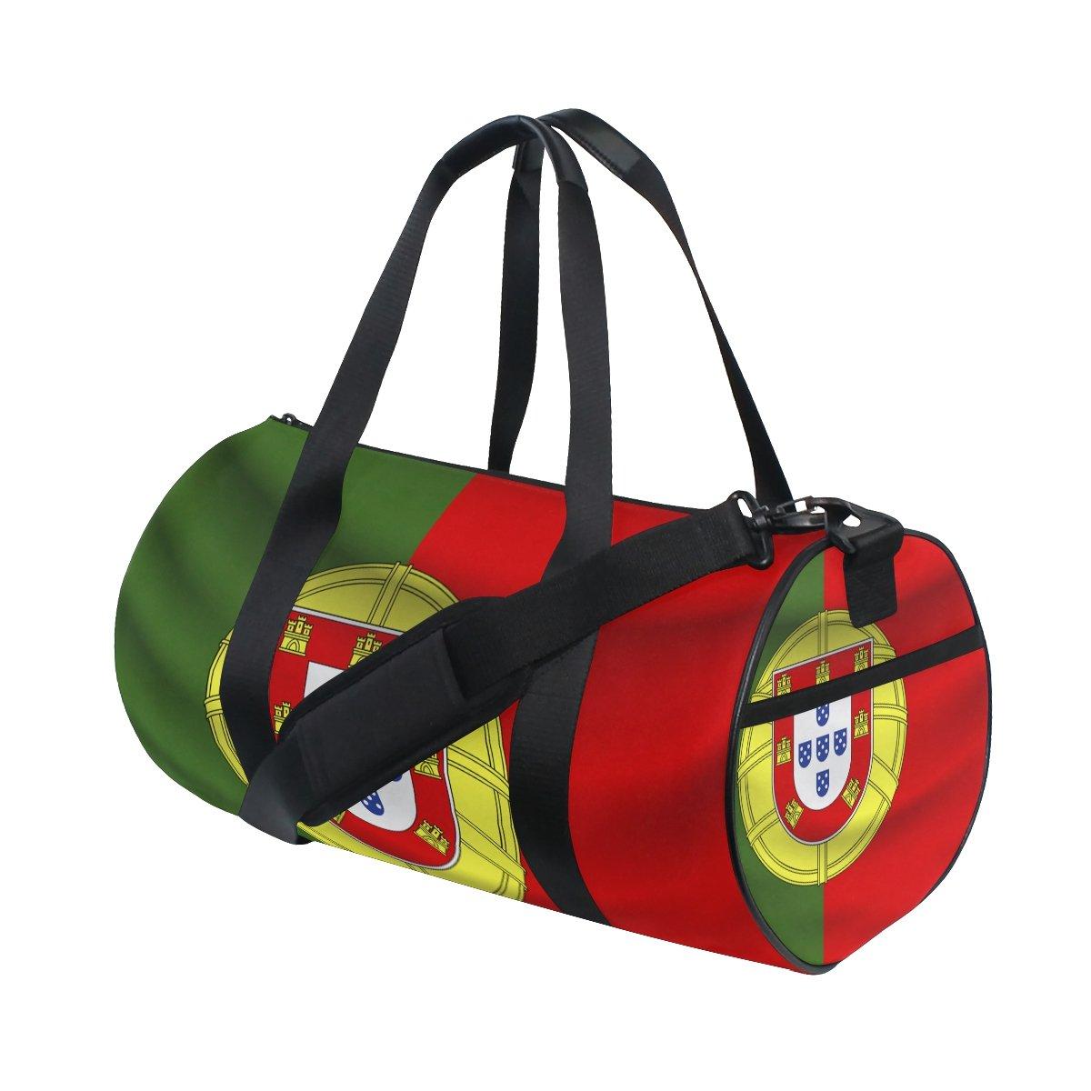 Portugal Flag Travel Duffel Shoulder Bag ,Sports Gym Fitness Bags
