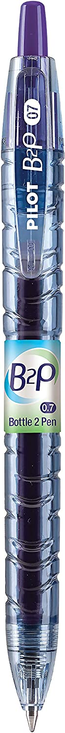 31622 PILOT B2P 2 Pack 12 Count Purple G2 Ink Bottle to Pen Refillable /& Retractable Rolling Ball Gel Pen Made From Recycled Bottles Fine Point