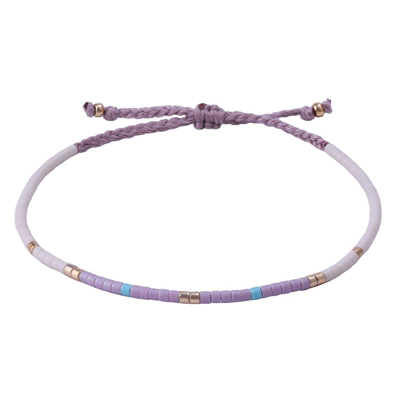 KELITCH Multicolor Crystal Shell Beaded Friendship Bracelets Hand Woven New Jewelry AZX062EK