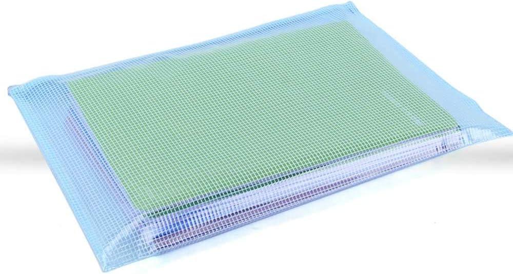 A5 formato A6 Yisscen B4 B5 B6 A4 impermeabile Cartellina portadocumenti in plastica con chiusura lampo 12 pezzi