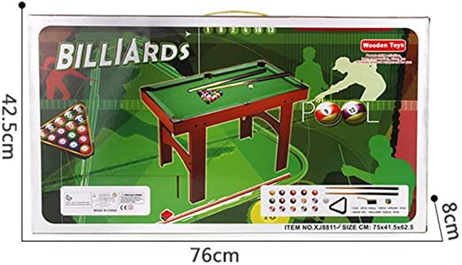 YuYzHanG Mini Mesa De Billar Juguete de Escritorio de Billar Mesa de Escritorio Mini Piscina Mesa de Billar de Mesa Juguetes Table Top Pool Game (Color, Size : 69x37x22cm): Amazon.es: Hogar