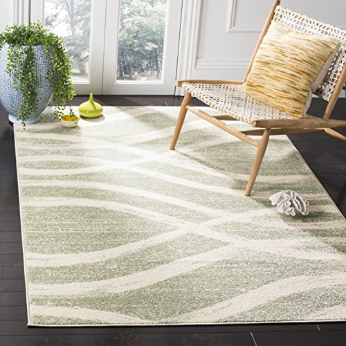 Safavieh Adirondack Collection ADR125X Sage and Cream Modern Area Rug (4' x 6')