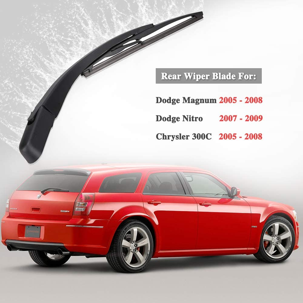 68057730AA Rear Windshield Wiper Blade 11inches with Arm All-weather Wiper Blade Replacement for Dodge Magnum Chrysler 300C 2005-2008 5140654AA 68003964AA 68057729AA 05140655AB
