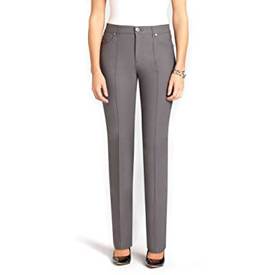 7070754ffd5  Petite  Simon Chang 5 Pocket Straight Leg Microtwill Pant Style 3-5302P