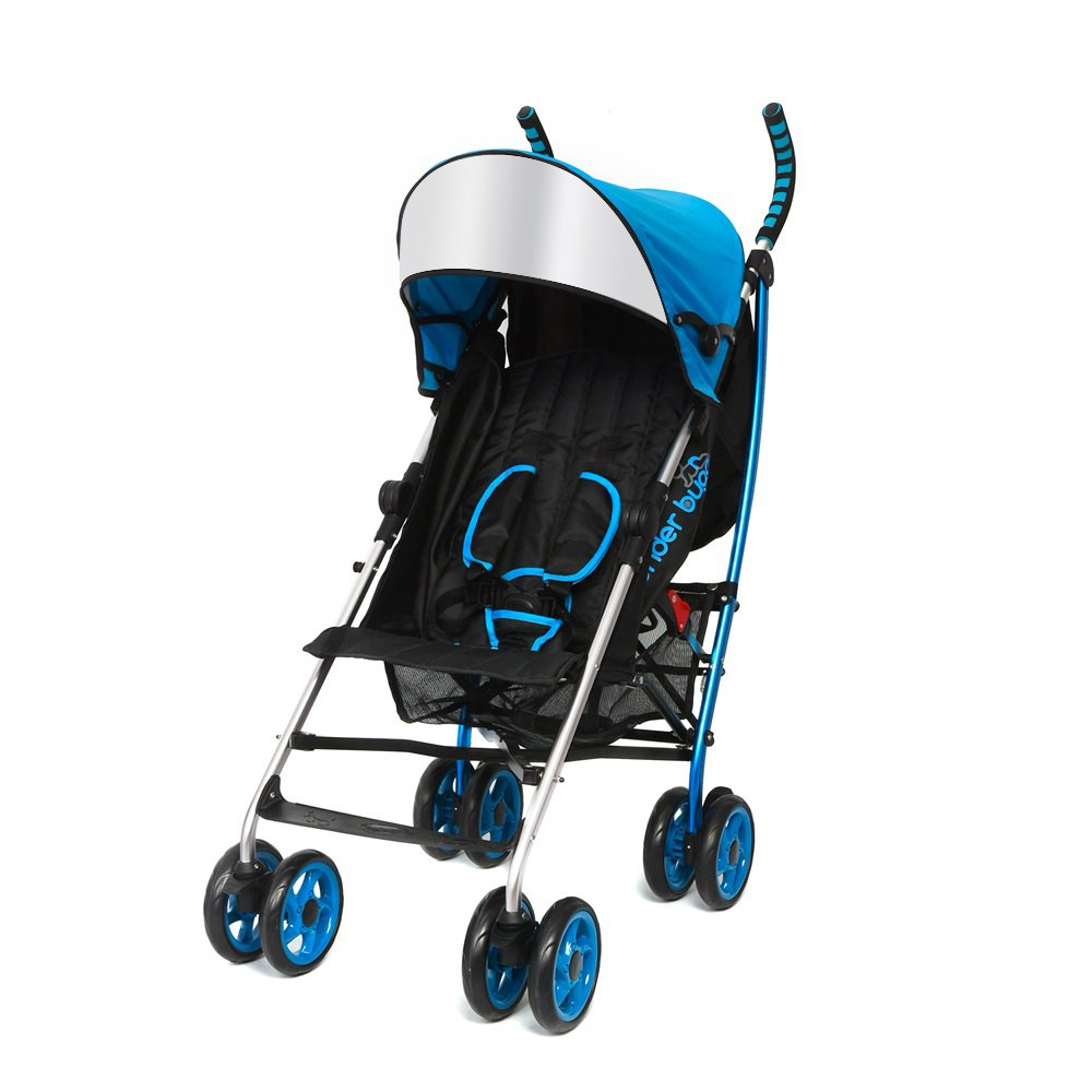 Wonder Buggy Lightweight Stroller for Baby, Foldable Stroller with Flexible Canopy and Cup Holder, Suitable for 6 Month or up Baby, Color Blue