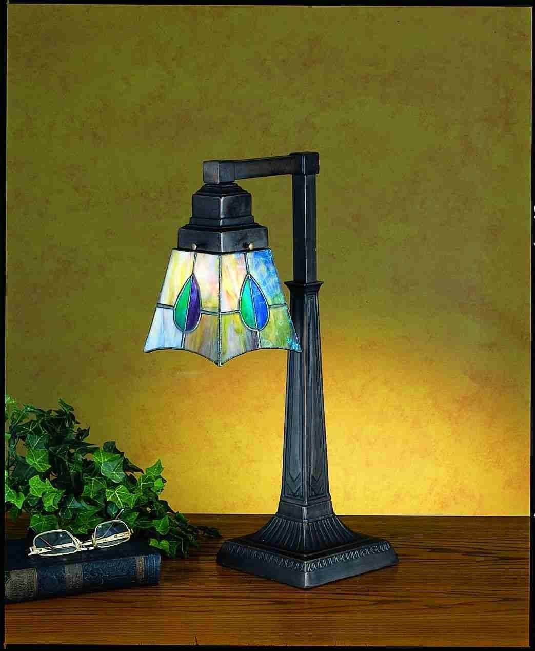 Meyda Tiffany 19.5 High Mackintosh Leaf Desk Lamp 27637