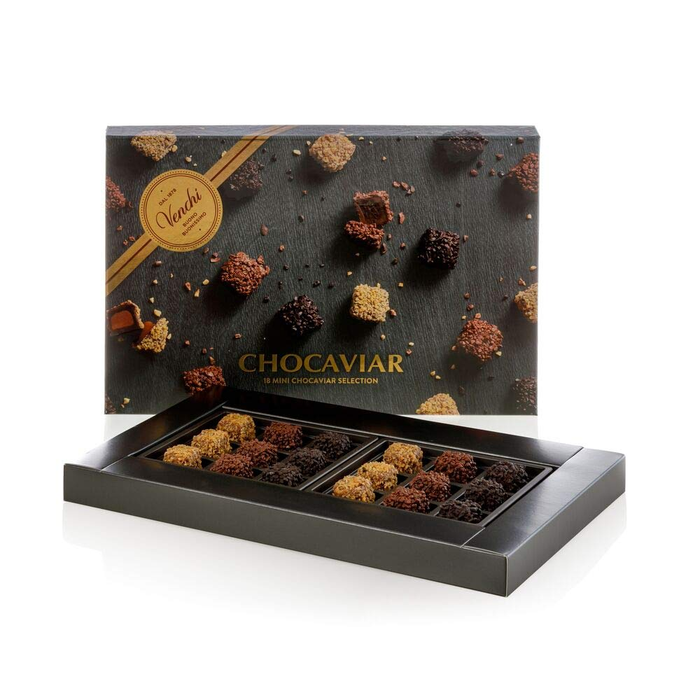 Venchi Assorted Chocaviar 18 Mini Chocolates in a Gift Box 9.17oz