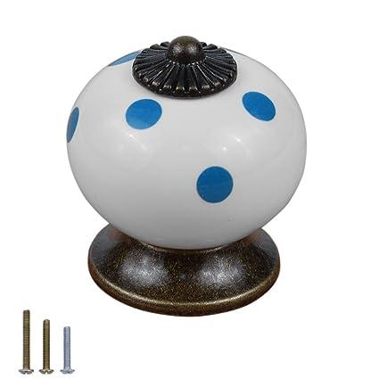 Ceramic Porcelain Door Knob Handle Drawer Cupboard Wardrobe Pull PK//8PCS