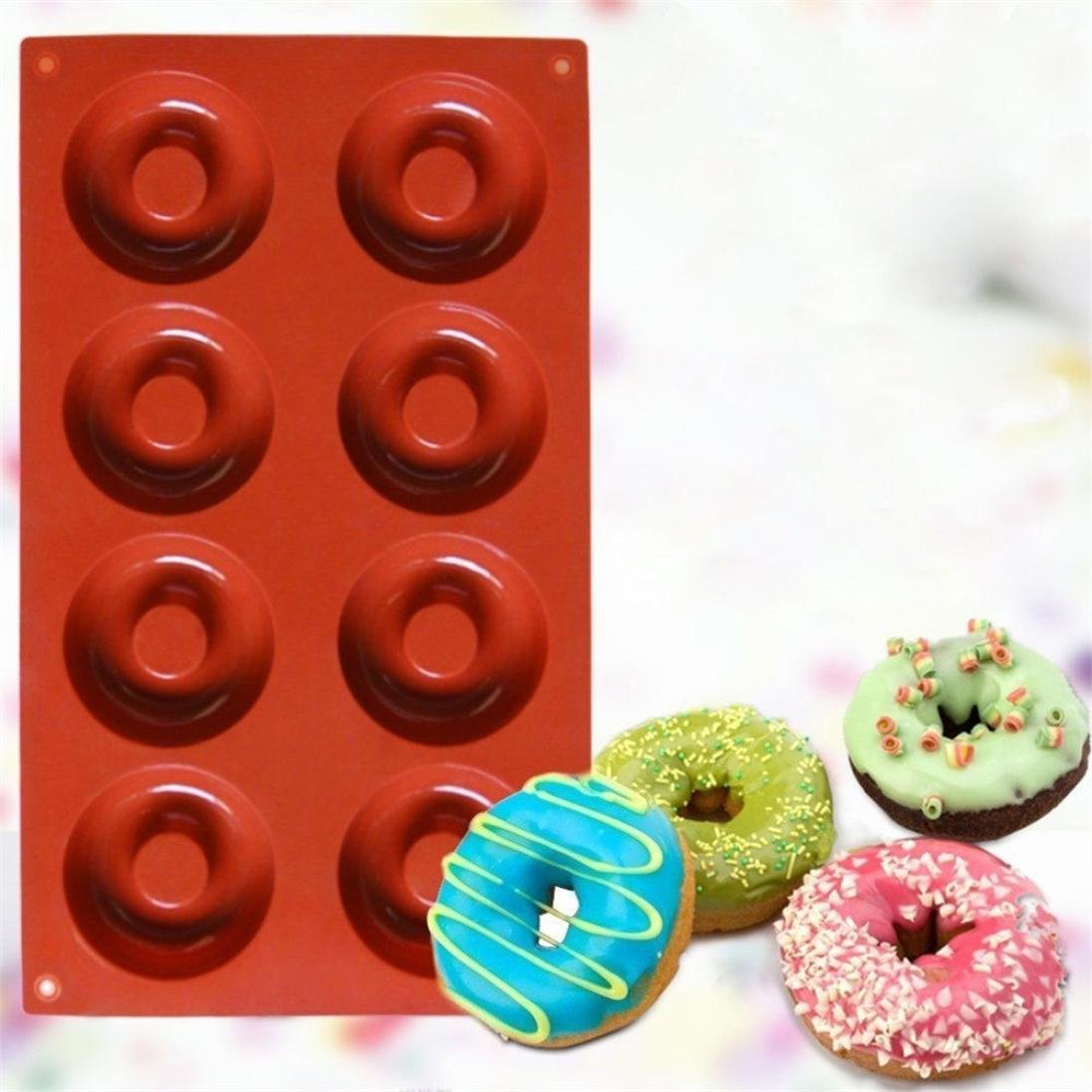 Amazon.com: Gessppo Molde de pastel Silicone Donut Cupcake Mold Muffin Chocolate Cake Candy Cookie Baking Mould Pan Kitchen Tool Baking Tool for Home: Home ...