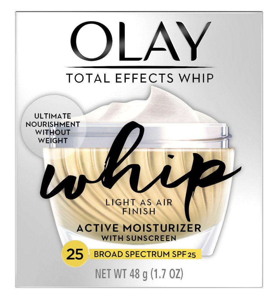 Olay Total Effects Whip Active Moisturizer Spf#25 1.7 Ounce Jar (50ml) (2 Pack)