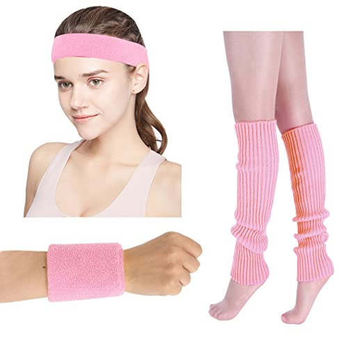 JINSEY Womenu0027s 80s Workout Costumes Accessories Neon Headband Wristband Leg Warmers Set Fit for 1980s Clothes  sc 1 st  Amazon.com & Amazon.com: JINSEY Womenu0027s 80s Workout Costumes Accessories Neon ...