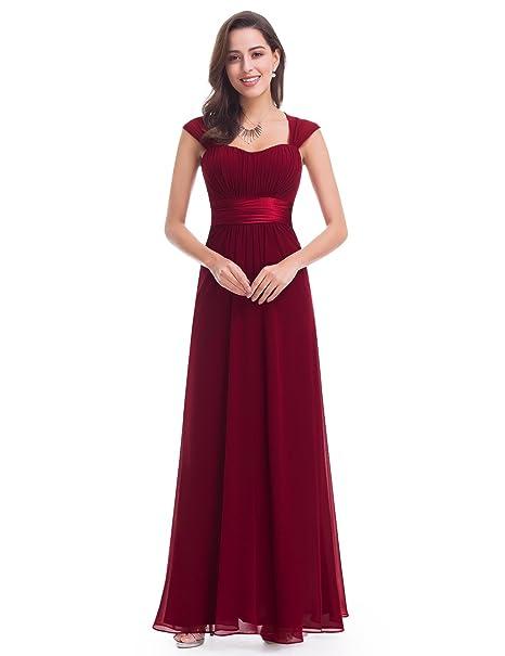 ea989414169ed Ever Pretty Women s Sleeveless Floor Length Evening Dress with Empire Waist  8 UK Burgundy