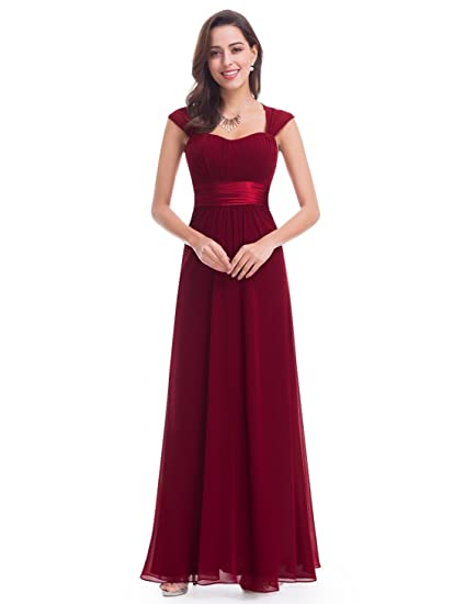 3b73aab5cf0 Ever Pretty Women s Sleeveless Floor Length Evening Dress with Empire Waist  8 UK Burgundy