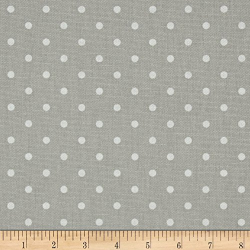 Premier Prints Mini Dot French Grey/White Fabric by The Yard ()