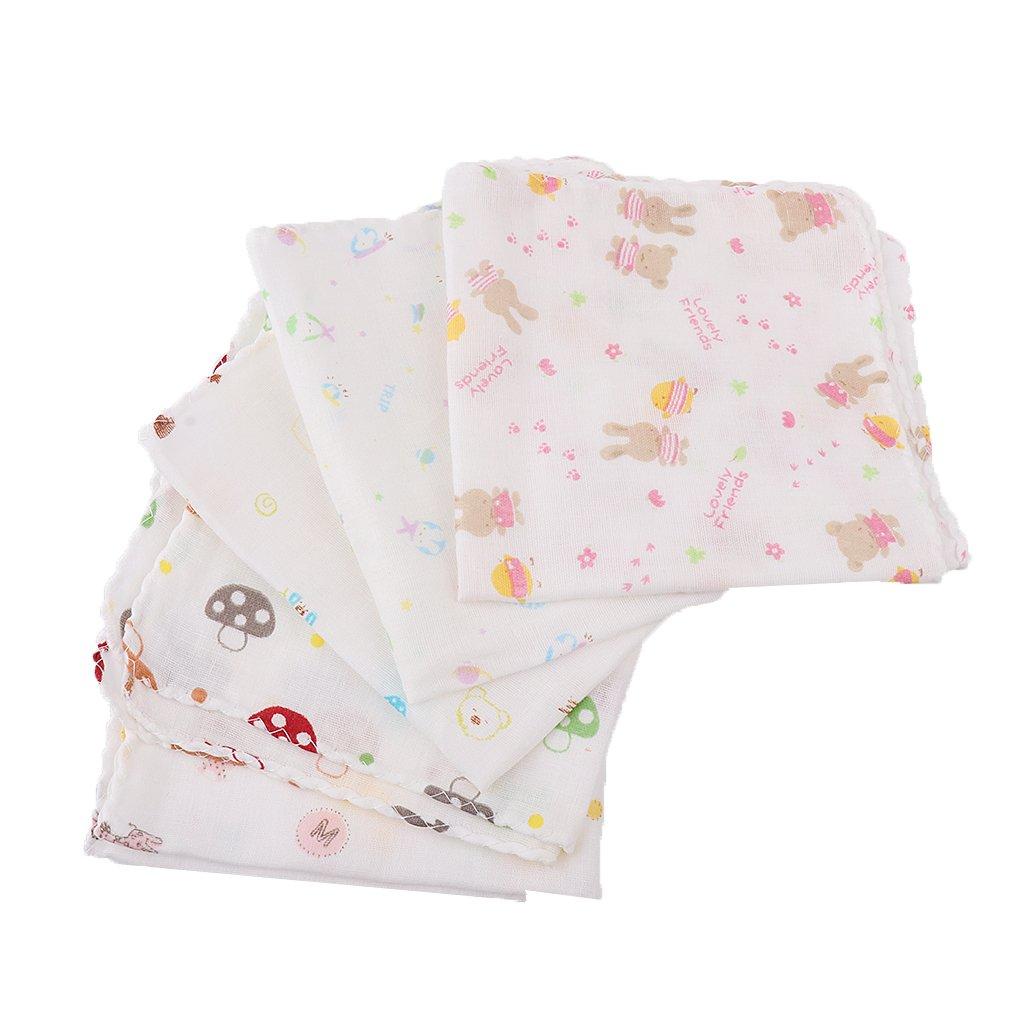Sharplace 5er Set Mulltücher / Mullwindeln / Spucktücher, 30 x 30cm, für Baby Jungen Mädchen