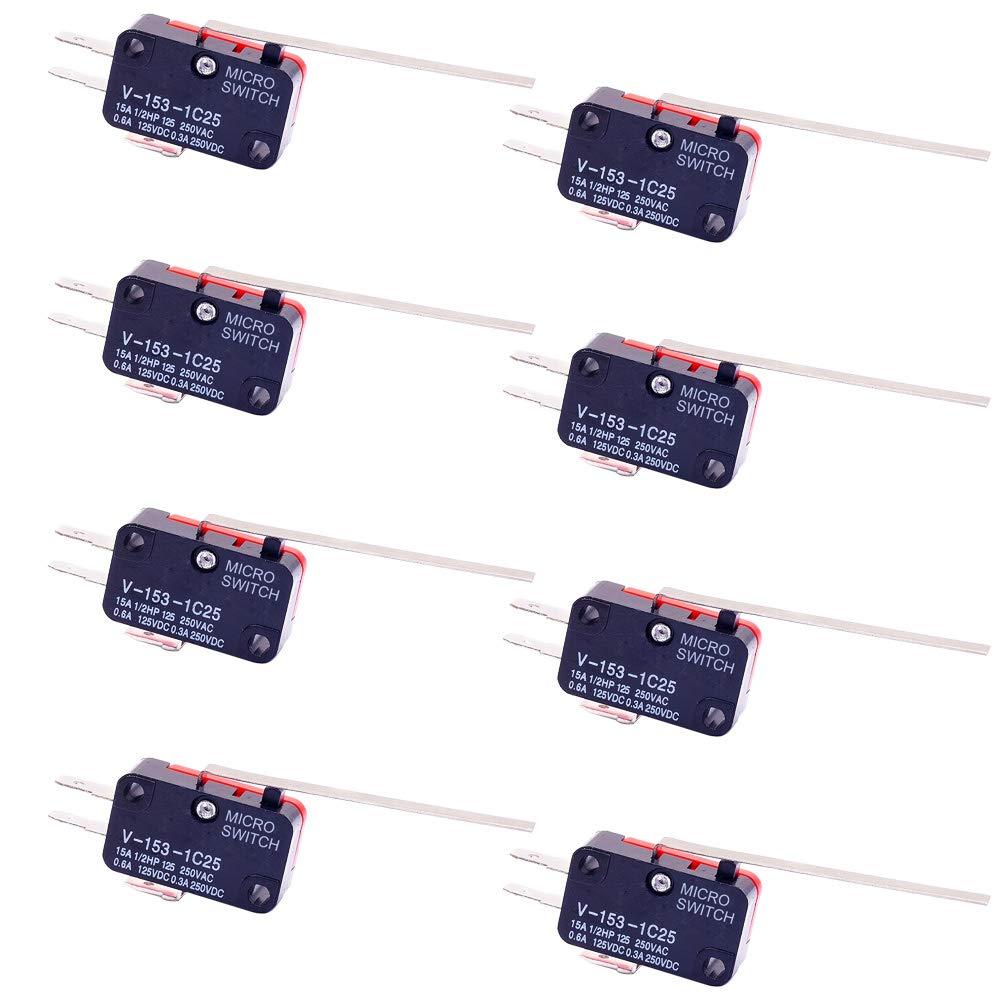 5/X V-156/–1/C25/Micro Limit commutateur Long Rouleau Bras Spdt Snap Action Lot