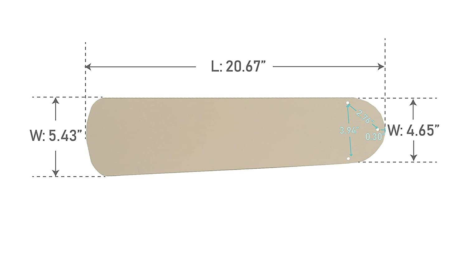 Craftmade BCD52P-AG Contractor Plus Ceiling Fan Blades Aged Bronze 52