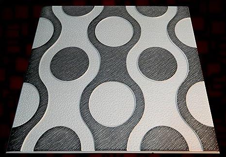 Polistirolo piastrelle pannelli da parete confezione da 48 12 mq