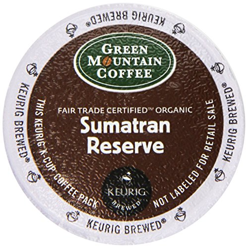 Country-like Mountain Coffee Fair Trade Organic Sumatran Reserve, 24-Count K-Cups For Keurig Brewers (Pack of 2)