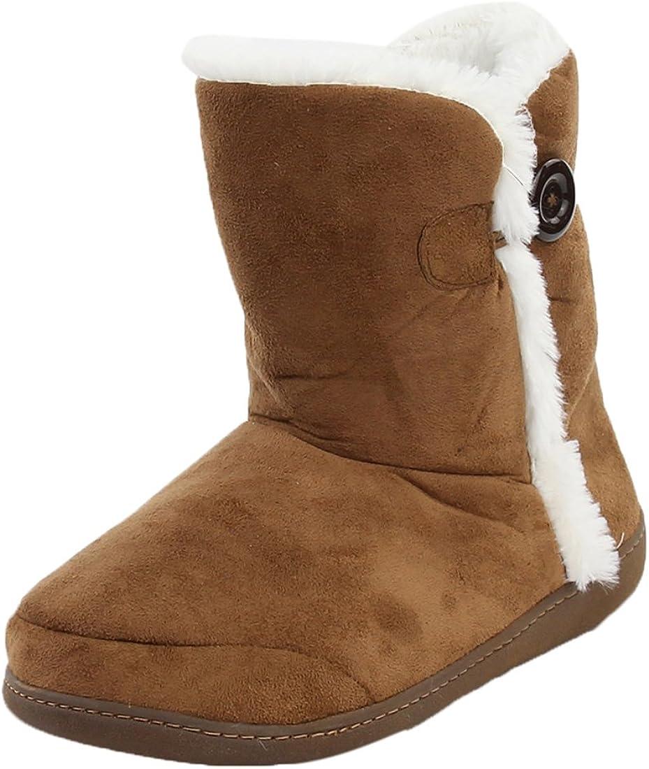 Home Slipper Women's Winter Warm Memory Foam Indoor House Slippers Boots