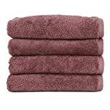Linum Home Textiles Soft Twist Premium Authentic Soft 100% Turkish Cotton Luxury Hotel Collection Hand Towel, Set of 4, Sugar Plum