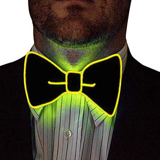 bloatboy Pajarita Hombre, Corbata Luminosa, Ajustable, Pajarita ...