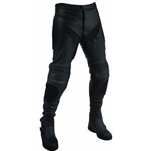 Roleff Racewear Pantalon Cuir Unisexe, Noir, 38