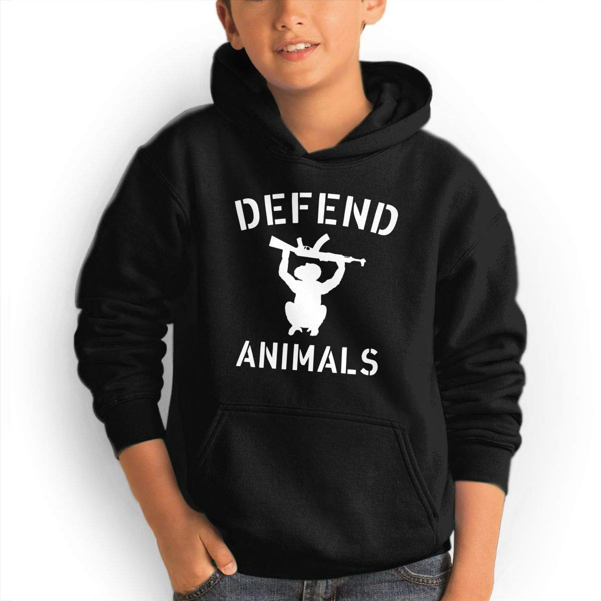 Defend Animals Youth Boys/Girls Hoodie Sweatshirt Hooded with Pocket by GUFEIFEIN