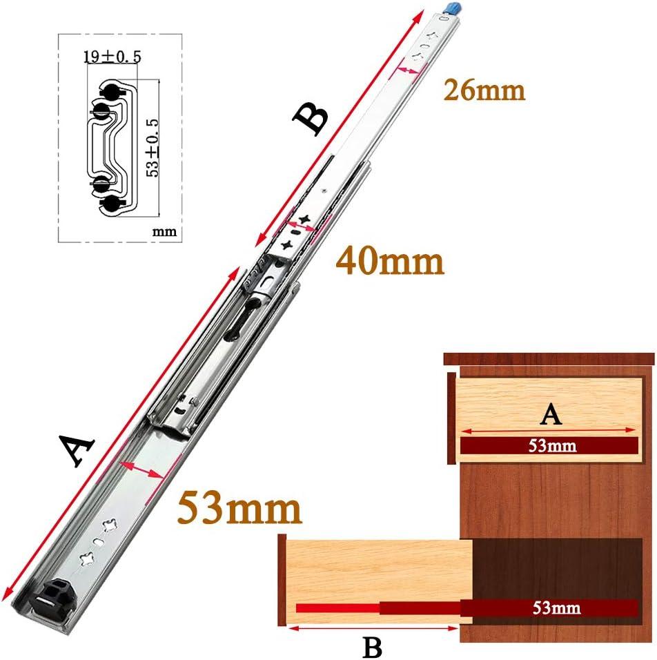 XYNH Schubladenauszug Schwerlast丨Schubladen Vollauszug 250 Mm丨 Tragkraft 120 Kg丨Schubladenschienen Teleskopschienen丨Kugelf/üHrung 2 St/üCk