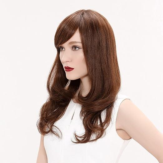 Peluca Peluca de pelo rizado largo europeo y americano Mujeres de moda natural esponjoso de alta calidad Pelucas: Amazon.es: Belleza