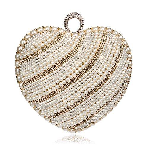 Fashion GROSSARTIG Bag Bag Delicate Banquet Pearl Handbags Gold Bride Evening Nightclub Hand Evening Holding Luxury 1wrFqxwCd