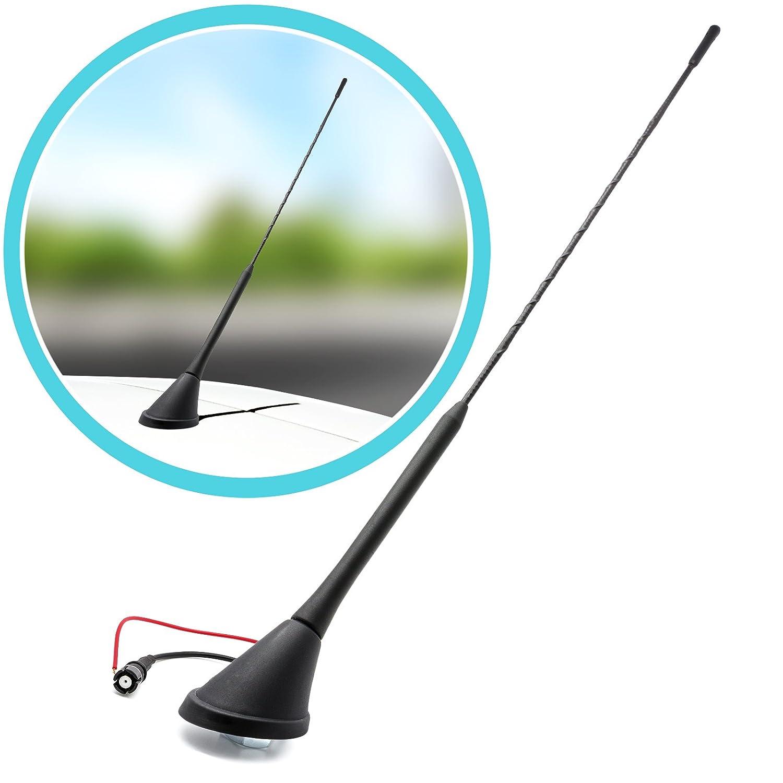 Auto Adattatore Antenna Adattatore Universe Stab del tetto Antenna antenna da zoccolo 16/V Auto 41/cm per Suzuki NERO