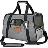 Pawfect Pets Pet Travel Carrier, Soft-Sided with Two Pet Mats for Small Dogs and Cats