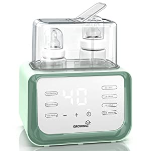 Bottle Warmer Bottle Sterilizer 6-in-1 Food Heater Constant Warming Quickly Warm with LCD Display Accurate Temperature Control for Breastmilk or Formula