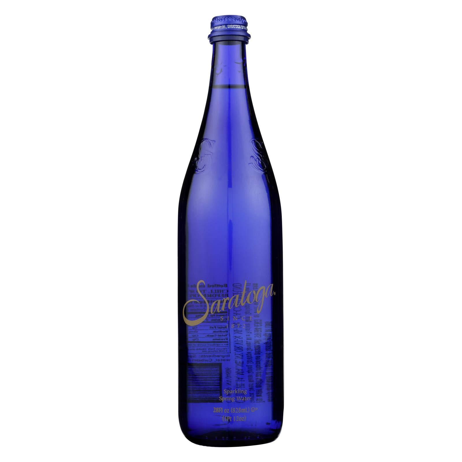 Saratoga Springs Water Sparkling Spring Water - Case of 12 - 28 Fl oz. by Saratoga Springs Water