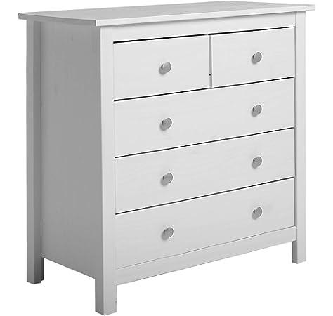 IKEA KOPPANG - Cómoda con 3 cajones, Color Blanco, 90 x 83 cm: Amazon.es: Hogar
