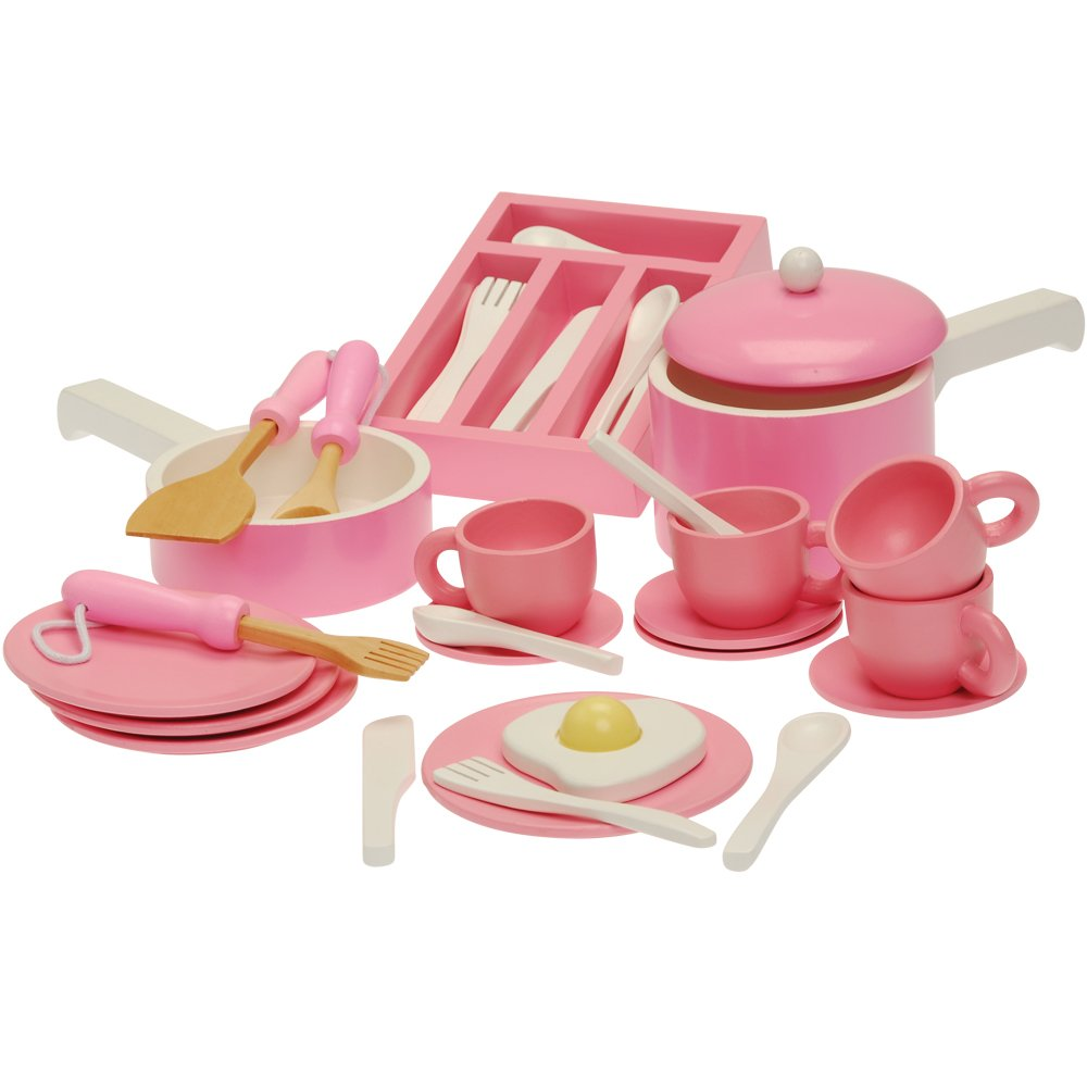 Constructive Playthings SNG-201 Play Kitchen Accessories Set with Dishes, Silverware and Pots and Pans/36 Piece, Grade: Kindergarten to 3