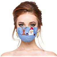 Christmas Adults Face Mask - Reusable Mouth Cover Santa Claus Snowman Decorative Masks for Women and Men