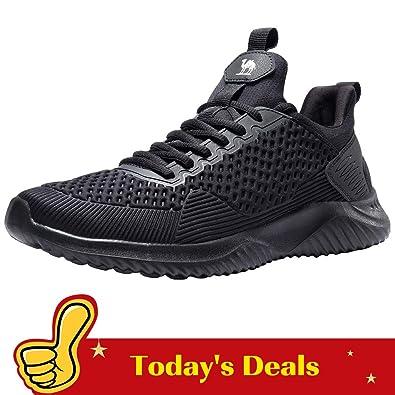 timeless design 87290 45306 CAMEL CROWN Running Shoes for Men (7.5 US, Black)