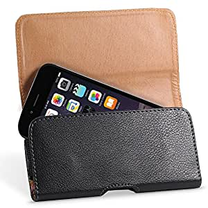 """Fosmon iPhone 6 Leather Wallet Style Pouch Case with Belt Clip for Apple iPhone 6 (4.7"""") - Black"""