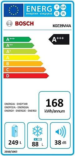 Bosch Serie 4 KGE39VI4A Independiente 337L A+++ Acero inoxidable ...