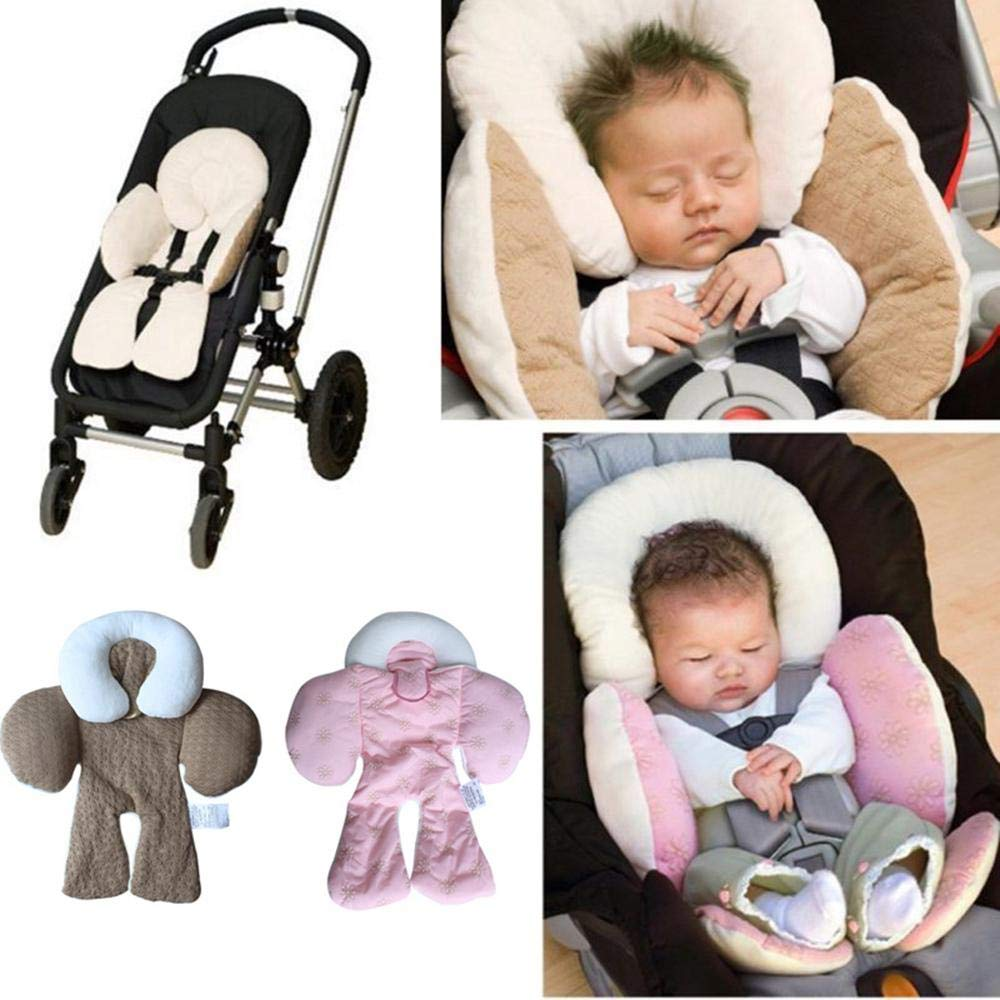 Dual Side Reversible Baby Stroller Car Seat Head and Neck Support Cushion,All Season Available Hamkaw Infant Body Support