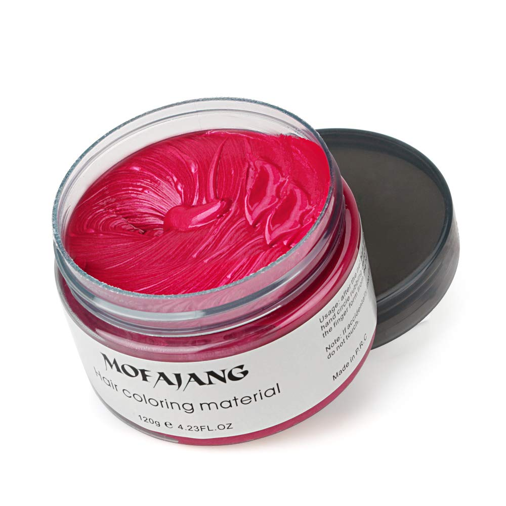 Temporary Hair Color Wax,4 Colors - White, Sliver, Blue, Purple, Fun and Effective Modeling Fashion DIY Hair MS.DEAR