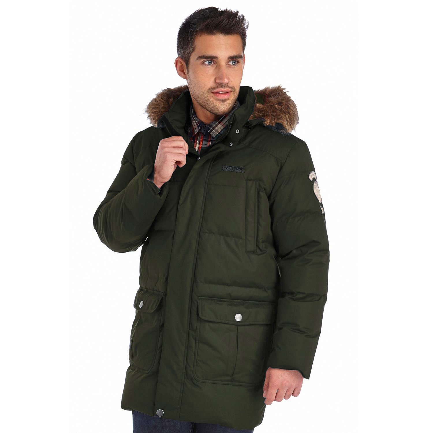Regatta Men's Andram Waterproof Down Insulated Parka Jacket - Bayleaf Green (RMN064 905 16/17)
